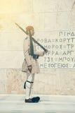有步枪的2 Evzone战士 库存图片