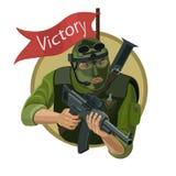 有武器的雇用的战士 库存例证