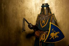 有武器的骑士 库存图片