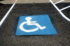 有残障的停车处3 免版税图库摄影
