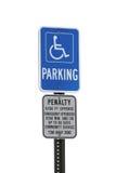 有残障的停车符号 库存图片