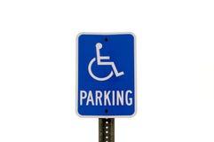 有残障的停车符号 免版税库存照片