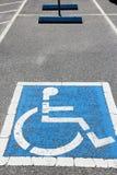 有残障的停车 库存照片