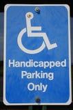 有残障的停车 免版税库存图片