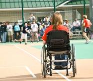 有残障的垒球特殊 免版税库存图片