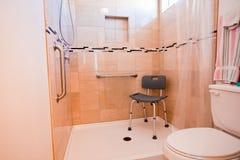 有残障的淋浴间 库存照片