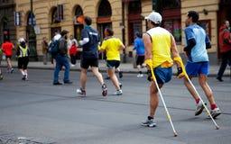 有残障的pim赛跑者 库存图片