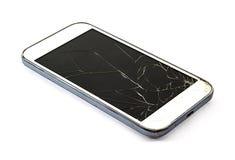 有残破的屏幕的智能手机 图库摄影