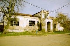 有残破的被毁坏的修造的能源厂 库存图片
