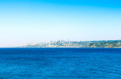 有比尼亚德尔马,智利大厦的太平洋  免版税库存图片