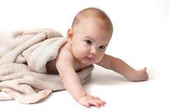 有毯子的婴孩 库存照片