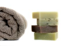 有气味的肥皂 免版税库存照片