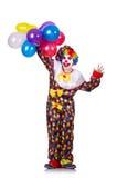 有气球的小丑 库存照片