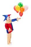 有气球的小丑 免版税库存照片