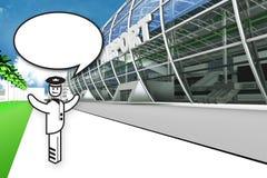 有气球的机场飞行员 免版税库存照片
