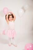 有气球的芭蕾舞女演员 免版税图库摄影