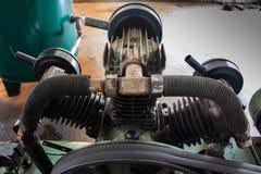 有气管的吸热器,在空气压缩机 免版税库存照片