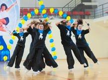 有氧运动和健身,乌兰乌德,俄罗斯节日  免版税库存图片