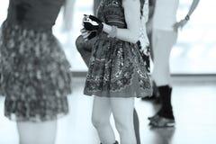 有氧运动女孩跳舞 免版税图库摄影