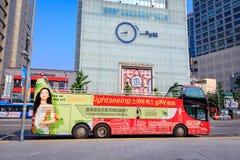 有汉城观光的公共汽车的Dongdaemun区2017 6月18日i 免版税库存图片