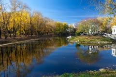 有池塘的Haritonovsky庭院 图库摄影