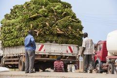 有汽车问题的运输在非洲 免版税库存图片