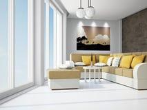有沙发的客厅 图库摄影