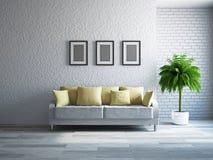 有沙发的客厅 免版税图库摄影