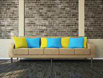 有沙发的空间 免版税库存照片