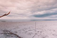 有沙滩的波罗的海 库存图片