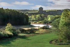 有河的堡垒 库存照片