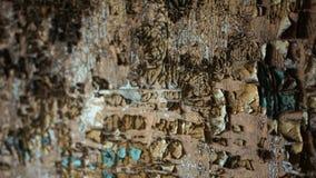 有油漆几层数的老被毁坏的墙壁  股票视频