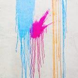 有油漆污点的墙壁  库存照片