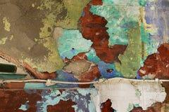 有油漆污点的老墙壁 免版税库存照片