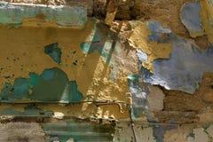 有油漆污点的老墙壁 库存照片
