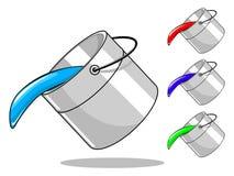 有油漆的传染媒介桶 免版税图库摄影