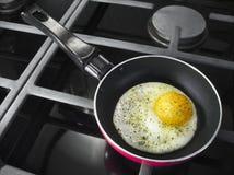 平底锅用鸡蛋 免版税库存照片