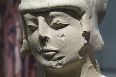 有波库纳,哈恩省双重装甲的利比亚战士  面孔细节 库存照片