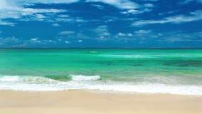 有波浪的海洋在英属黄金海岸海滩澳大利亚 股票录像