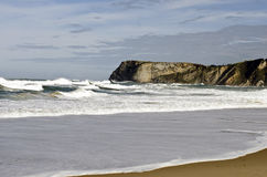 有波浪的狂放的海洋 免版税图库摄影