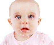 有流鼻水的病的婴孩 免版税图库摄影