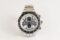 有测时器功能的不锈钢手表 免版税图库摄影