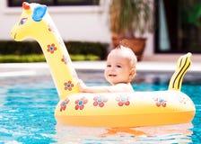 有浮动的婴孩 图库摄影