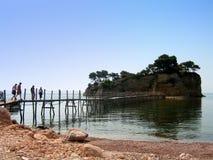 有浮雕的贝壳海岛 免版税库存照片