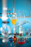 玻璃实验室仪器 库存图片