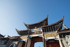 有清楚的天空的中国寺庙 免版税库存图片