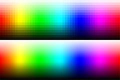 有渐进性和使光滑的颜色的色板显示RGB 免版税库存图片