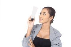 有温泉健康皮肤概念的美丽的亚裔妇女,整洁清洗 库存图片