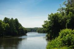 有湖的夏天公园 库存图片