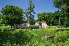 有湖的夏天公园 免版税库存图片